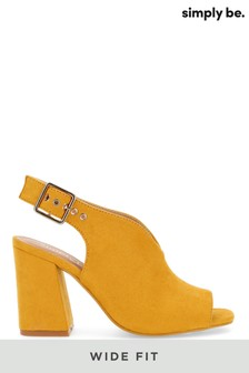 Simply Be Wide Fit V Cut Slingback Shoeboot