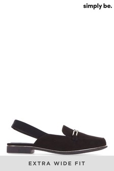 Simply Be Extra Wide Fit Mule With Elastic Back Strap