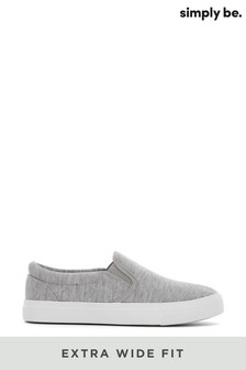 Simply Be Extra Wide Fit Basic Slip On Pumps