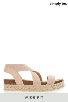 Simply Be Wide Fit Flatform Sandals