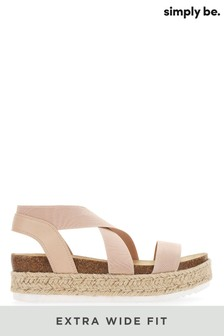 Simply Be Extra Wide Fit Flatform Sandals