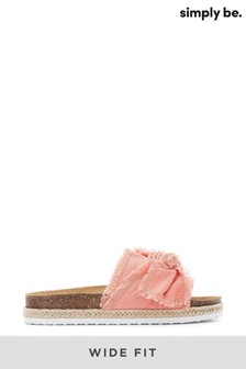 Simply Be Wide Fit Flat Sandals