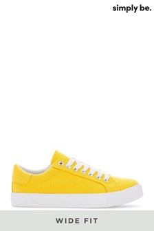 Simply Be Wide Fit Canvas Lace-Ups