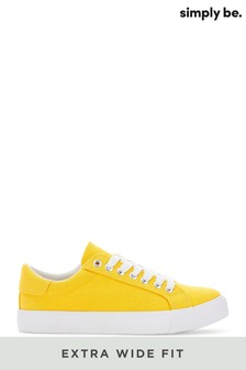 Simply Be Extra Wide Fit Canvas Lace-Ups