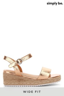 Simply Be Wide Fit Espadrille Wedges