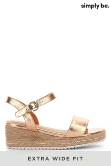 Simply Be Extra Wide Fit Oregon Espadrille Wedges