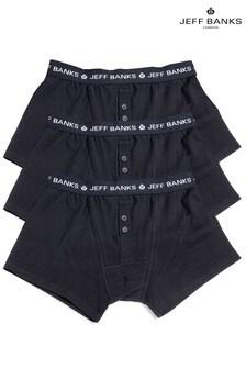 Czarnemęskie bokserki Jeff Banks,3 pary