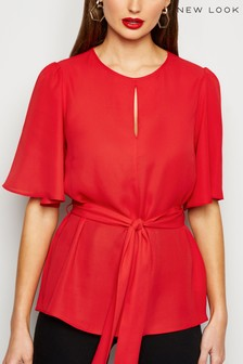 New Look Keyhole Belted Top