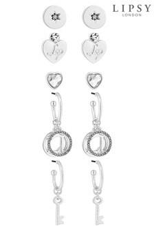 Lipsy Metal Link Double Drop Earrings