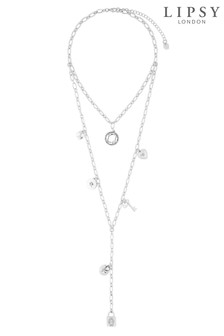 Lipsy Silver Cluster Layer Necklace