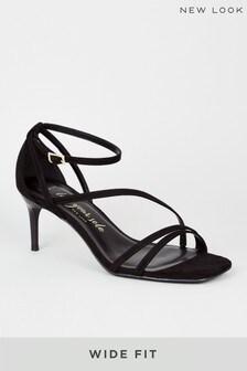 New Look Wide Fit Suedette Strappy Stilettos