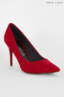 New Look Suedette Pointed Court Shoes