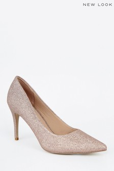 New Look Glitter Court Shoes