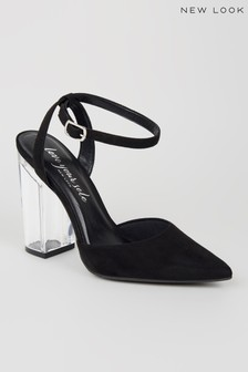 New Look Suedette Pointed Toe Court Heels