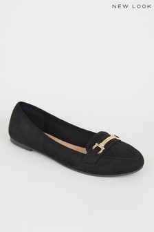 New Look Suedette Bar Front Loafers