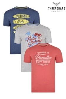Threadbare Graphic T-Shirt - Pack of 3