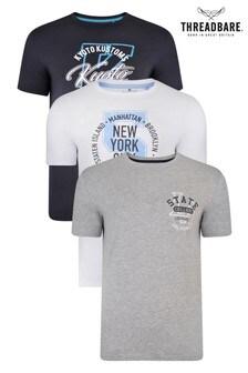 Threadbare Multi Graphic T-Shirt Three Pack