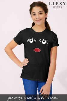 Personalised Lipsy Eyes Open Girls T-Shirt by Instajunction