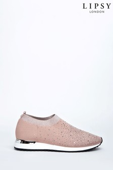 Lipsy Knit Diamanté Trainer