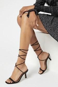 Lipsy Kitten Heel Ankle Tie Sandal