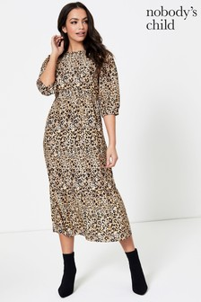 Nobody's Child Rachel Babydoll Midi Dress