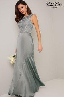 Chi Chi London Premium Lace Bodice Maxi Dress