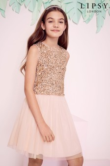 Lipsy Girl Sequin Top And Tulle Skirt Set