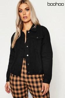Boohoo Curve Slim Fit Western Denim Jacket