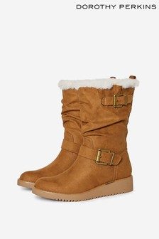 Dorothy Perkins Wedged Buckle Calf Boot
