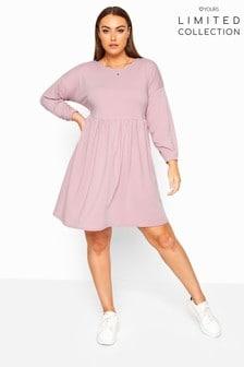 Yours Limited Collection Curve Dusky Peplum Sweatshirt Dress