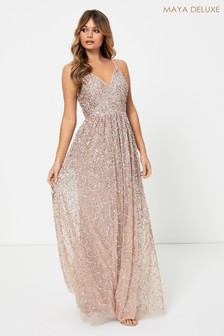 Maya All Over Sequin Cami Maxi Dress