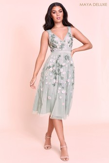 Maya Embroidered Midi Dress