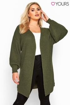 Yours Curve Oversized Balloon Sleeve Knitted Cardigan