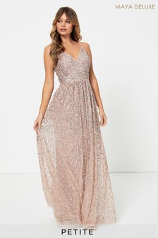 Maya Petite All Over Sequin Cami Maxi Dress