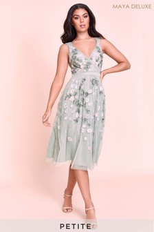 Maya Petite Embroidered Midi Dress