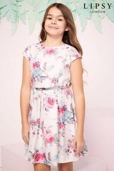 Lipsy Girl Diamond Jacquard Floral Dress