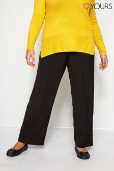 Yours Curve Straight Leg 30 Inch Pablo Trouser