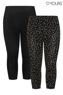 Yours Curve Crop Leggings Pack Of 2