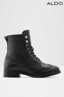 Aldo Leather Lace Up Ankle Boot
