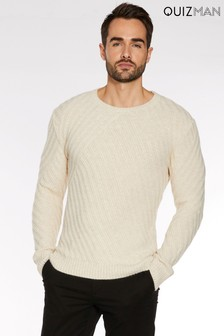 Quizman Chunky Knit Crew Neck Jumper