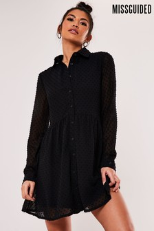 Missguided Dobby Shirt Smock Dress