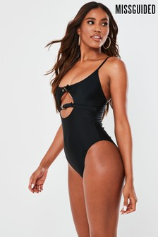 Missguided Double Buckle Detail Swimsuit