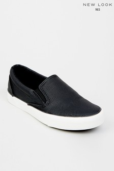 New Look Girls Faux Snake Slip On Trainers