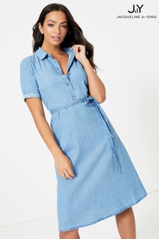 JDY Denim Tie Waist Dress