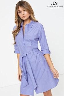 JDY Cotton Stripe Shirt Dress