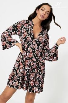JDY Floral Print V neck Smock Dress