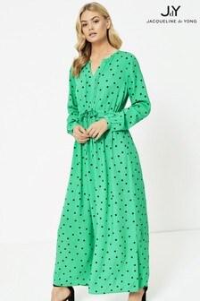 JDY Polka Dot Long Sleeve Maxi Dress