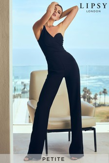 Abbey Clancy x Lipsy Petite One Shoulder Asymmetric Jumpsuit