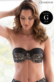 Charnos Superfit Lace Padded Strapless Bra E+