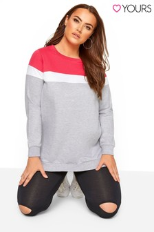 Yours Curve Colourblock Sweatshirt